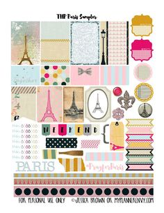 My Planner Envy: Paris Sampler - Free Planner Printable