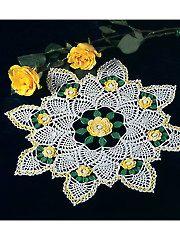 Yellow Rose of Texas Doily  Annie's patterns