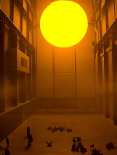 Olafur Eliasson's installation at the Tate  Modern...