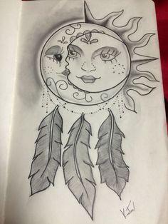 Resultado de imagen de sun and moon dreamcatcher