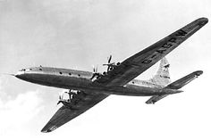 1949 Bristol Brabazon - by far the biggest passenger plane at the time and roughly the size of a Boeing Dreamliner.