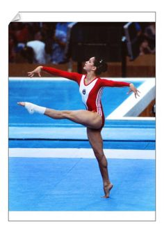 Floor Workouts, Floor Exercises, Olympic Gymnastics, Elite Gymnastics, Gymnastics Posters, Nadia Comaneci, Soviet Union, Gymnastics Pictures, Moscow