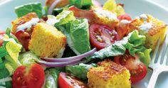 BLT Salad with Cornbread Croutons |