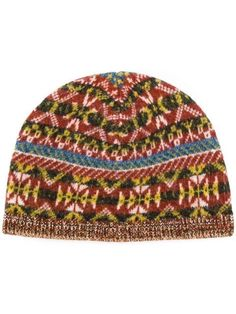 Shop Pringle Of Scotland Fairisle jacquard beanie Hair Rubber Bands 8e332fa122b1