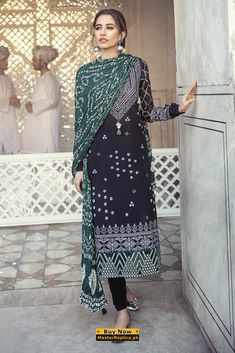 CROSS STITCH Silk Dupatta, Desi Clothes, Cross Stitch, Ready To Wear, Dobby, Kimono Top, Latest Pakistani Fashion, Cotton, Trousers