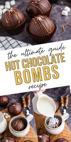 Hot Chocolate Coffee, Salted Caramel Hot Chocolate, Hot Chocolate Gifts, Christmas Hot Chocolate, Chocolate Bomb, Hot Chocolate Bars, Hot Chocolate Recipes, Chocolate Spoons, Cocoa Recipes