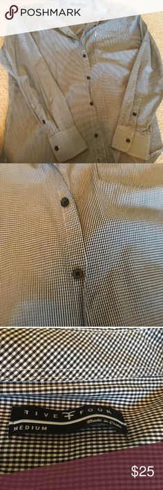 NWOT Five Four Men's Dress Shirt M New check Dress Shirt. Reasonable offers accepted, no trades. Smoke/pet free home. Five Four Shirts Dress Shirts