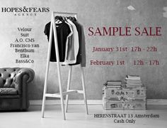 Hopes & Fears | SAMPLE SALE -- Amsterdam -- 31/01-01/02