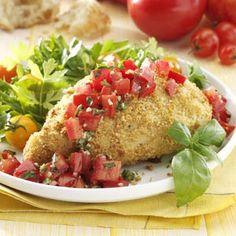 Bruschetta Chicken Recipe from Taste of Home -- shared by Carolin Cattoi-Demkiw of Lethbridge, Alberta