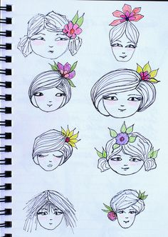 Art Journal - Face Doodle Exercise 2 | by Pink Palindrome