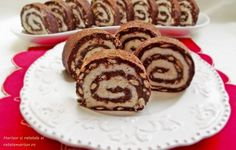 Rulada de biscuiti cu mascarpone si nuca de cocos