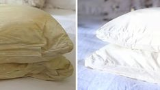 How to Clean Bed Pillows like a Pro for less than 5 dollars! – d/scovr Household Cleaning Tips, Deep Cleaning Tips, House Cleaning Tips, Natural Cleaning Products, Cleaning Solutions, Spring Cleaning, Cleaning Hacks, How To Clean Bed, How To Clean Pillows