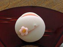 紅梅 Kōbai - Japanese apricot Japanese Wagashi, Japanese Sweets, Japanese Food, Beautiful Desserts, Food Crafts, Tea Cakes, Cute Food, Confectionery, Mochi