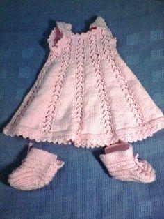 Vestido para Bebe de hilo con zapatos, de Baby Top en Witoi.com. A sólo $6.000 CLP