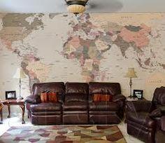 decoração mapa mundi parede - Pesquisa do Google