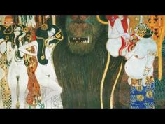 Art On Screen - presents: Gustav Klimt - Beethovenfreis - Wiener Secession - Monlight Sonata by Ludwig van Beethoven Gustav Klimt, Ludwig, Vienna, New Art, Make It Yourself, Painting, Kiss, Bonn, Art Nouveau