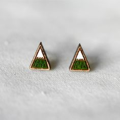 tiny mountain earrings
