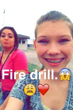 Lollipop and I at the fire drill.