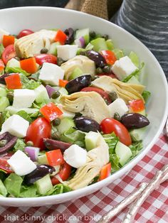 Mediterranean Chopped Salad | Chock full of refreshing vegetables and dressed with a simple vinaigrette