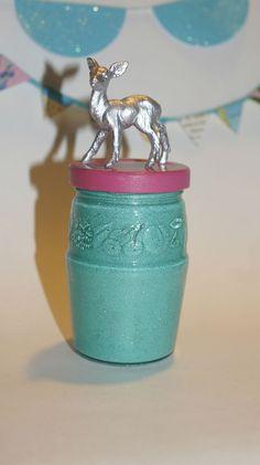 Silver Deer Jar. $12.00, via Etsy.