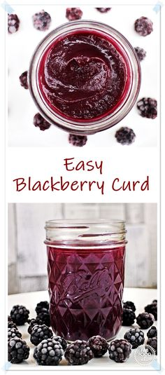 Easy Blackberry Curd with a hint of lemon. A simple recipe to make without using a double boiler or endless stirring. Use as a filling for cakes, macarons, tarts etc or simply use as a spread like you would jam! Blackberry Jam Recipes, Blackberry Cake, Fruit Recipes, Vegan Recipes Easy, Easy Dinner Recipes, Dessert Recipes, Fruit Dessert, Detox Recipes, Sauce Recipes