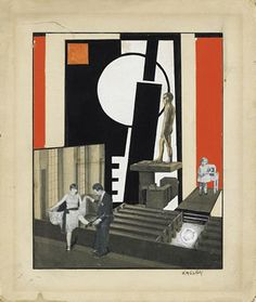 Lajos Kassak (Hungarian, 1887 – Stage Set, 1926 Collage on cardboard, 22 x cm Saint Germain, Set Design Theatre, Stage Set, Mixed Media Collage, Conceptual Art, Photomontage, Art Auction, Decoration, Printmaking