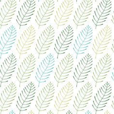 Fun Fronds fabric by pattysloniger on Spoonflower - custom fabric