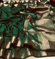 Kota Silk Saree, Bridal Silk Saree, Soft Silk Sarees, Cotton Saree, Bridal Lehenga, Bottle Green Saree, Best Designer Sarees, Designer Dresses, Silk Saree Kanchipuram