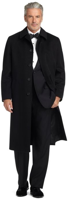 $2,498, Brooks Brothers Brooksstorm Cashmere Split Raglan Overcoat. Sold by Brooks Brothers. Click for more info: https://lookastic.com/men/shop_items/299961/redirect