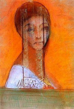 Odilon Redon - Veiled Woman 2