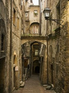 Medieval Street in Perugia Photographic Print