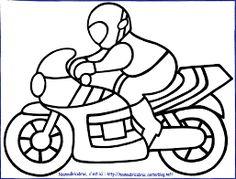 Resultado de imagen de dessin a colorier de moto