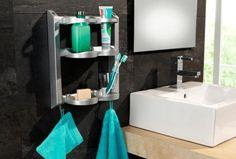 Petite étagère à fixer au mur de la salle de bains