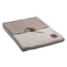 Plaid gerstekorrel Knit Factory Knit Factory Woonaccessoires