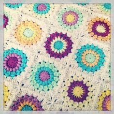 Sunburst Granny Square Pattern/Tutorial/Patroon