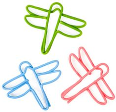 Dragonfly Paper Clips from Fred Flare Wire Crafts, Paper Crafts, Paper Clips Diy, Wire Bookmarks, Cute Office, Stationery Pens, Writing Numbers, Office Accessories, Bookbinding