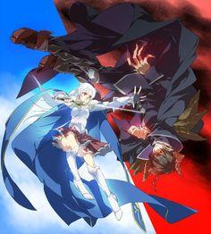 Emi Yusa and Sadao Maou Devil Part Timer, Hataraku Maou Sama, Sakura Mochi, Cute Couple Drawings, Artist Alley, Anime Nerd, Another Anime, Demon King, Dark Fantasy Art