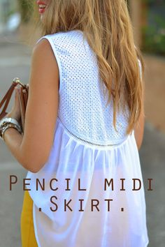 Mi aventura con la moda: PENCIL MIDI SKIRT