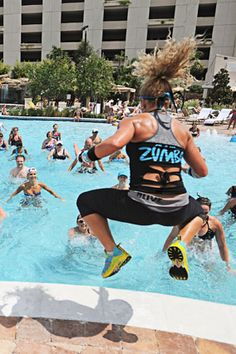Aqua Zumba  .. way more intense than the one I do!