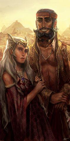 Daenerys and Daario by DjeDjehuti.deviantart.com on @deviantART