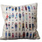45x45 CM Outdoor Cushions Pixel Kinds Of People Print Decorative Pillows Burlap Throw Pillows