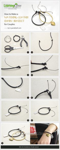 How to Make a Matching Leather Charm Bracelet for Couples