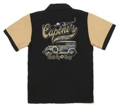 Capones Delivery Serive Retro Bowling Shirt $19.95