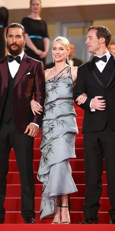 Matthew McConaughey & Naomi Watts in Armani Privé - The Best of the 2015 Cannes Film Festival Red Carpet from InStyle.com