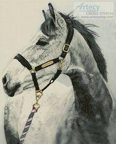 Grey Horse cross stitch pattern.