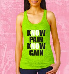 Know Pain Know Gain GYM CustomTANK TOP