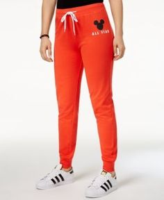 Disney Juniors' Mickey Mouse Graphic Sweatpants by Hybrid - Red XL