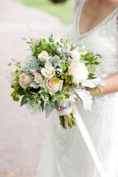 Soft, romantic bouquet | Photography: Jen Ing Photography - jeningphotography.com Read More: http://www.stylemepretty.com/2015/05/28/intimate-boston-restaurant-wedding/