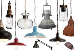 Stunning industrial lights for all situations Industrial Lighting, Lamps, Ceiling Lights, Pendant, Home Decor, Style, Lightbulbs, Swag, Decoration Home