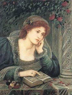 ✿Reading✿ Maria Euphrosyne Spartali, later Stillman:Beatrice, 1895